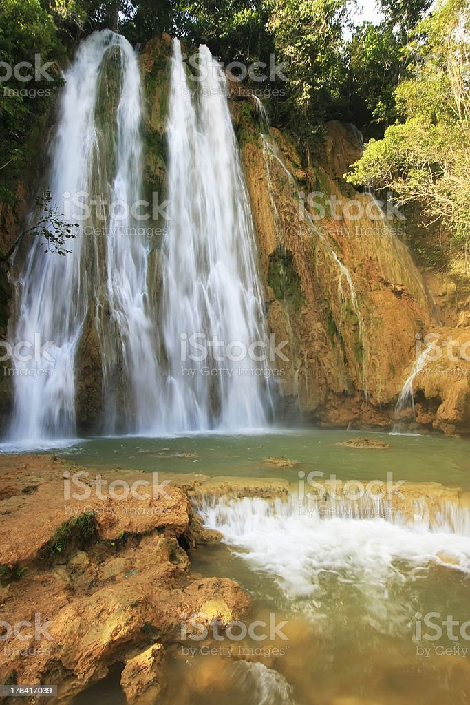 El Limon waterfall, Dominican Republic stock photo