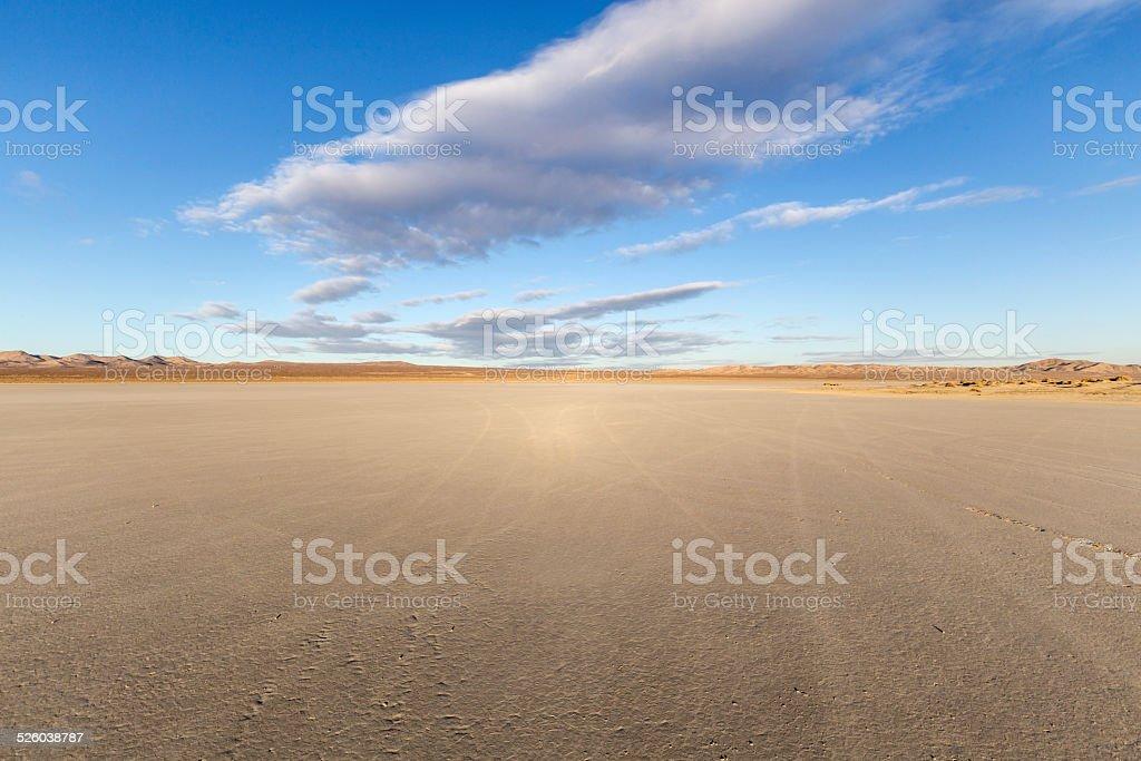 El Mirage Dry Lake Mojave stock photo