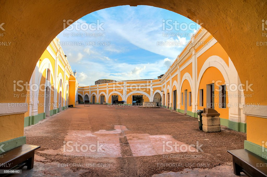 El Morro arch stock photo