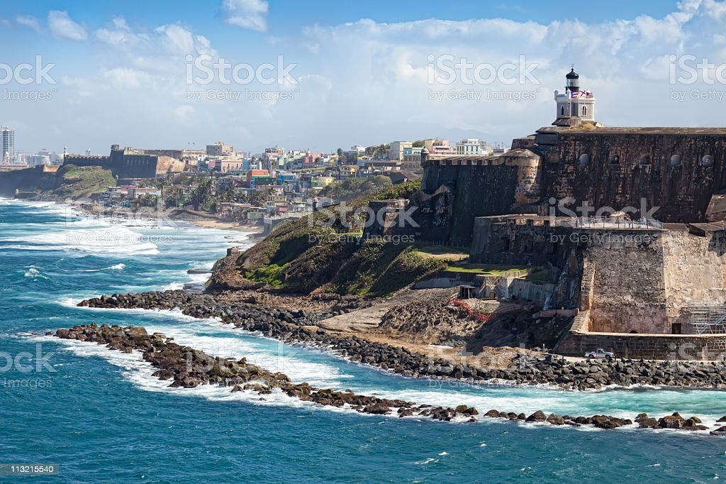 El Morro Castle in Old San Juan, Puerto Rico stock photo