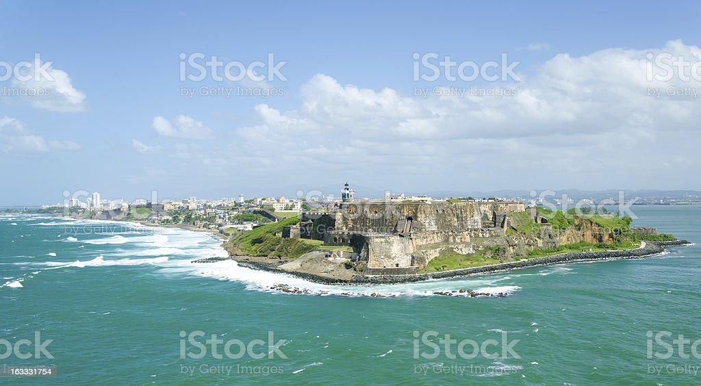 El Morro Castle in Old San Juan, Puerto Rico. stock photo