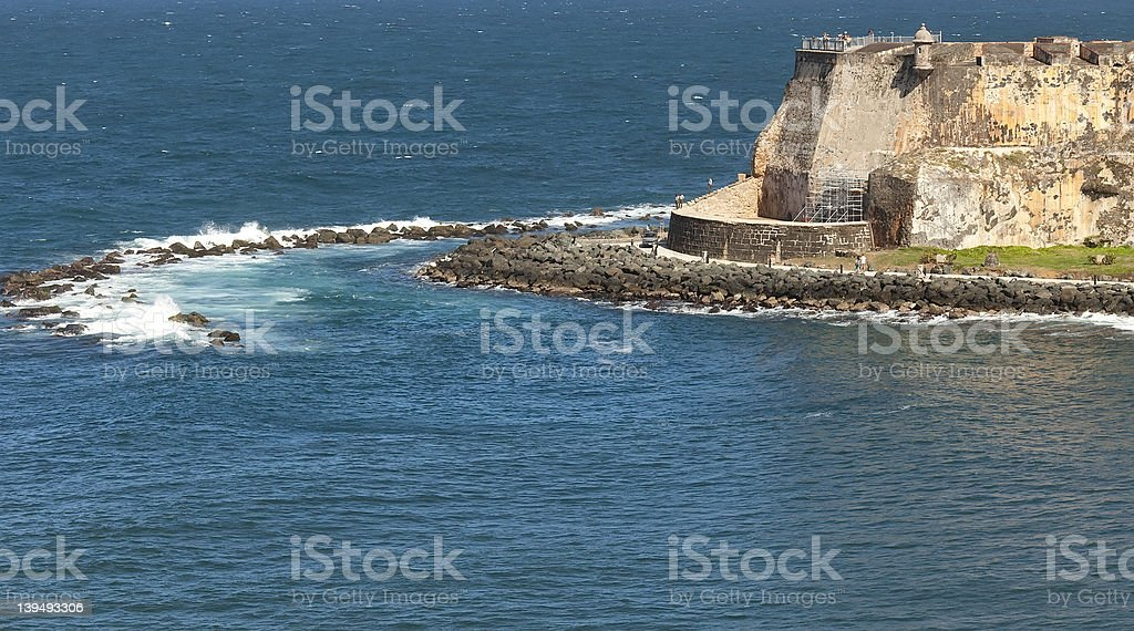 El Morro Castle in San Juan, Puerto Rico stock photo
