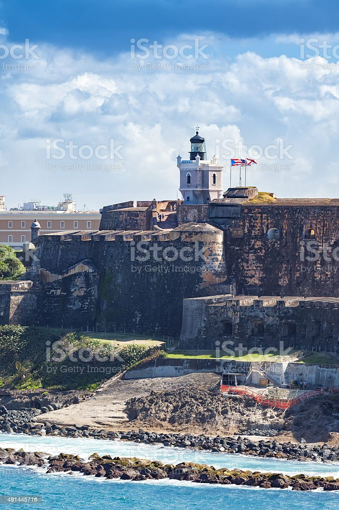 El Morro Castle stock photo