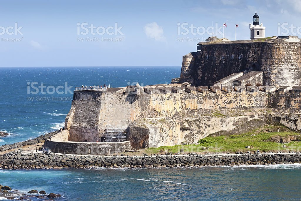 El Morro Castle, San Juan, Puerto Rico stock photo
