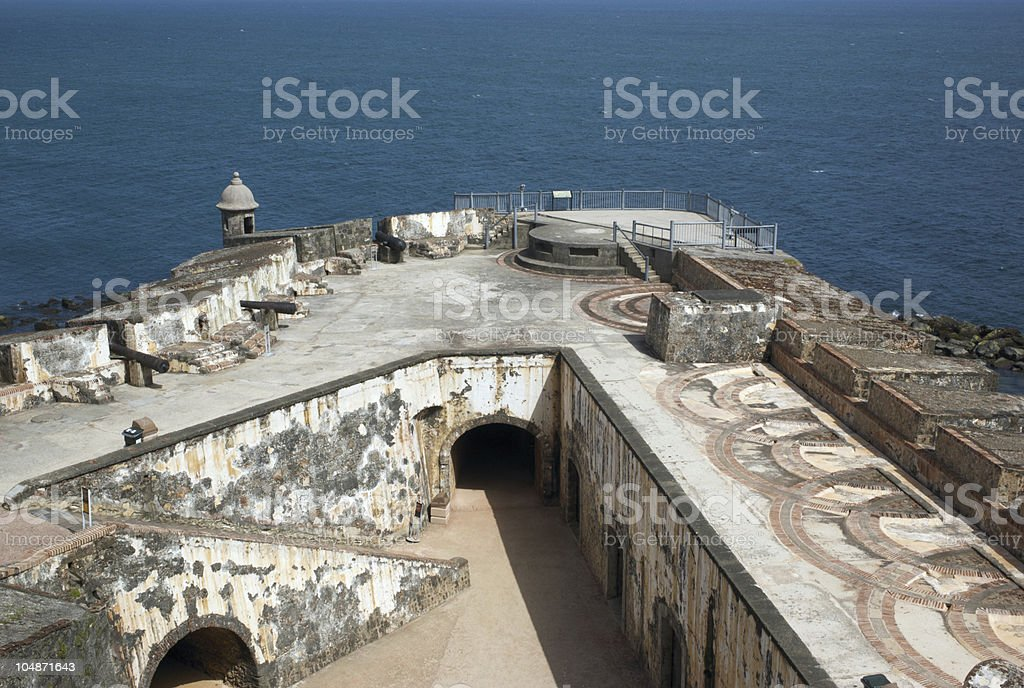 El Morro Fort in San Juan, Puerto Rico stock photo