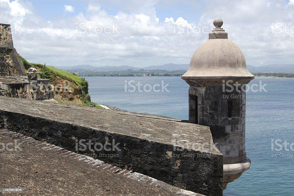 El Morro Fortress Turret stock photo
