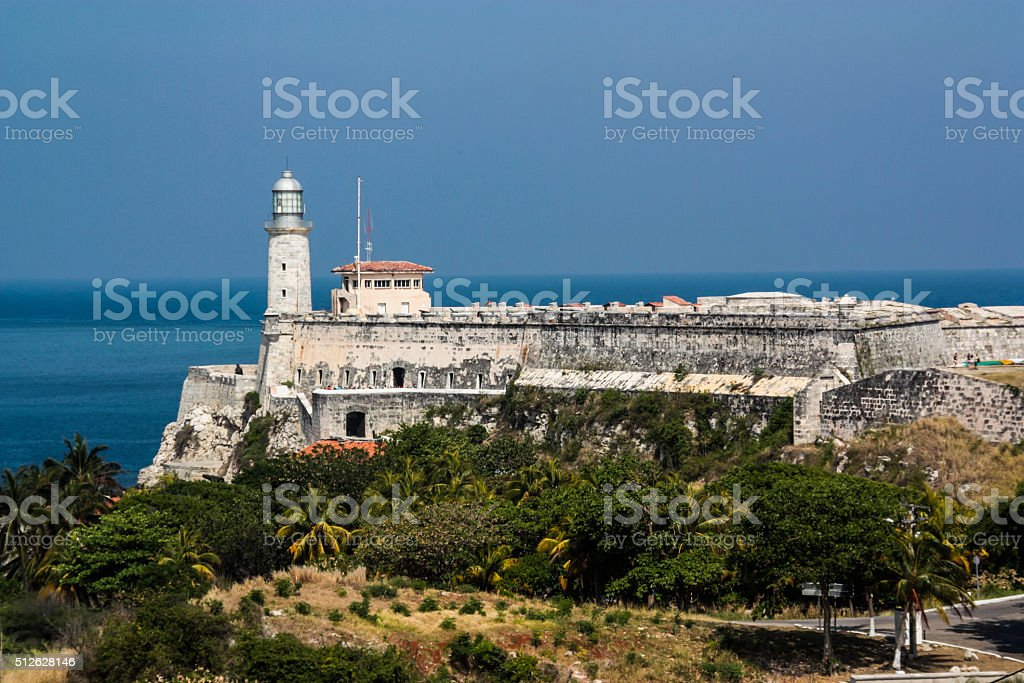 El Morro Lighthouse and Fortress Havana stock photo