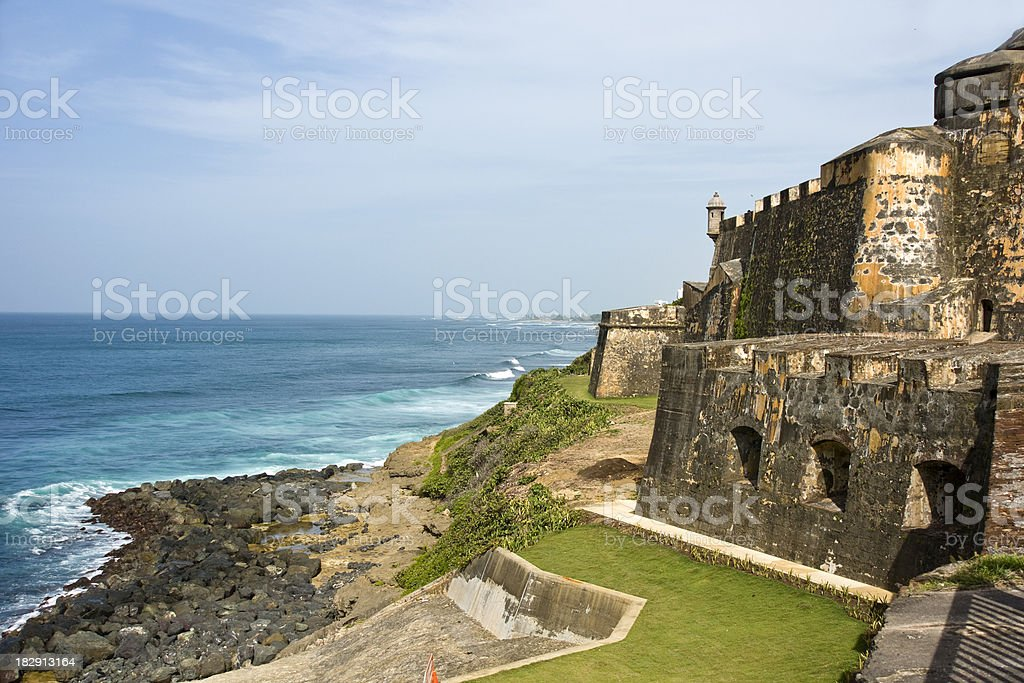 El Morro on the coast stock photo