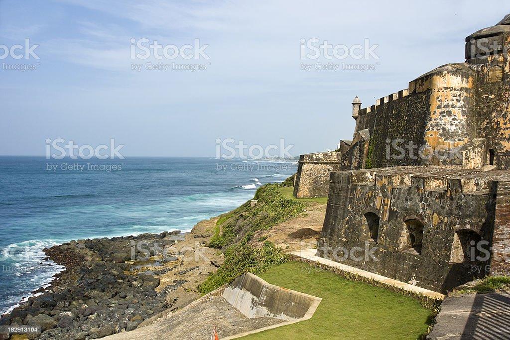 El Morro on the coast stock photo