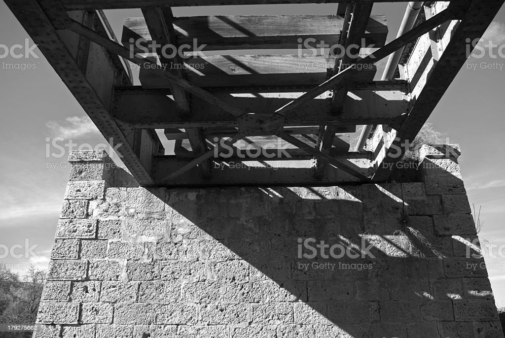 El muro de un puente royalty-free stock photo