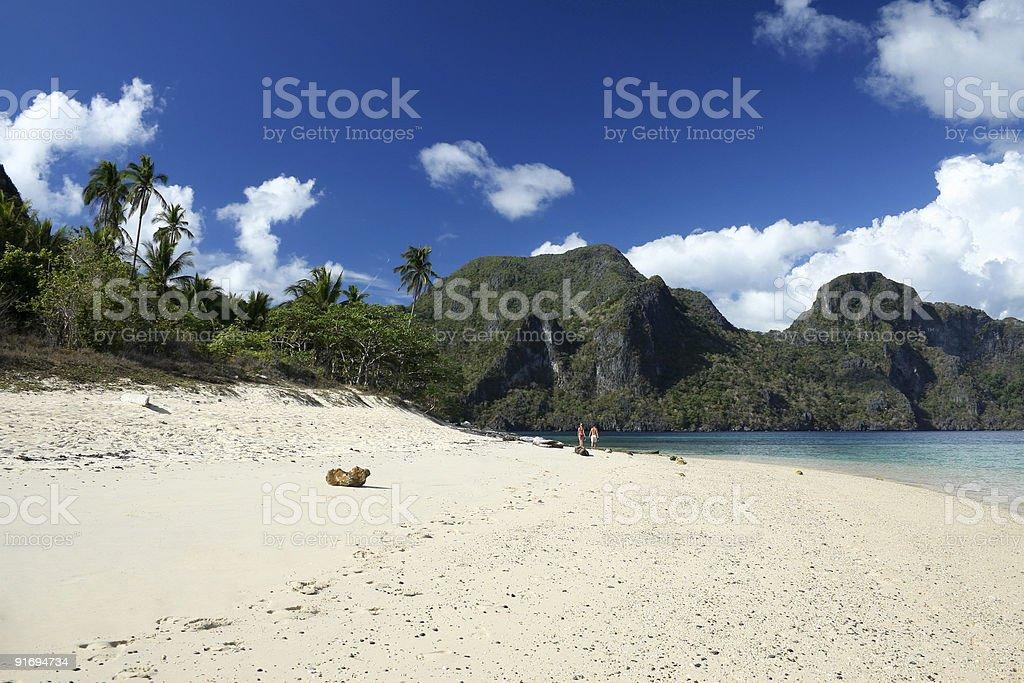 el nido beach royalty-free stock photo