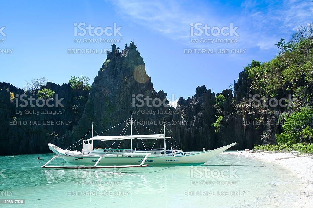 el nido boat trip palawan philippines royalty-free stock photo