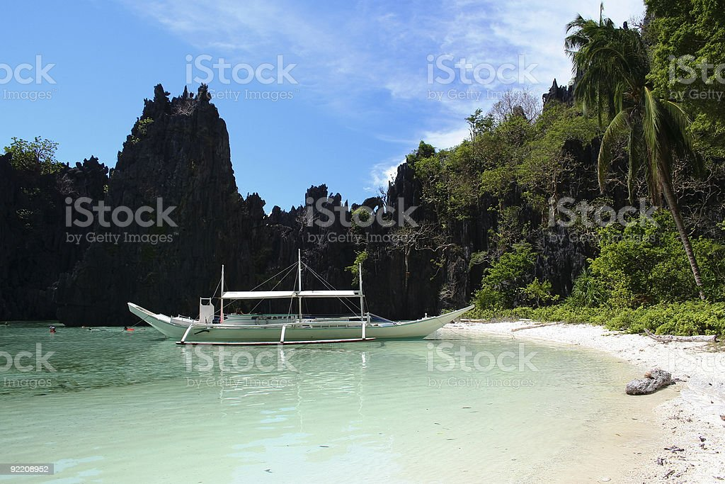 el nido hidden beach palawan island philippines royalty-free stock photo