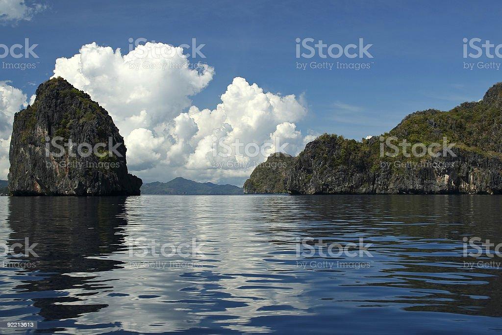 el nido karst rock formations royalty-free stock photo