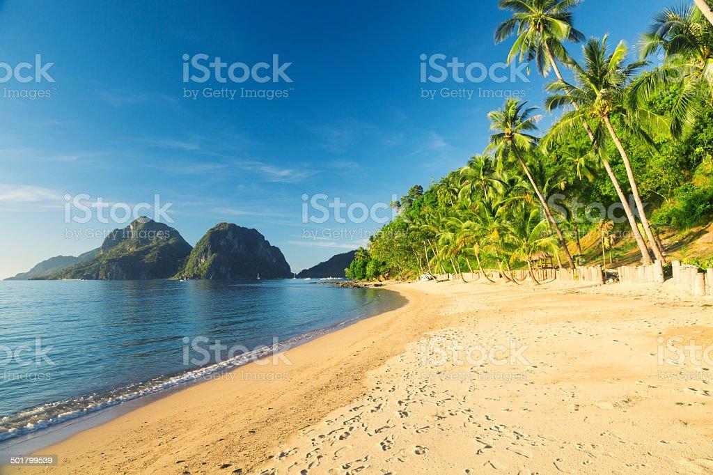El Nido - Las Cabanas beach royalty-free stock photo