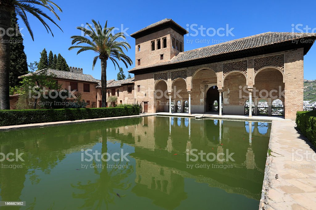 El Partal in the Alhambra, Granada stock photo