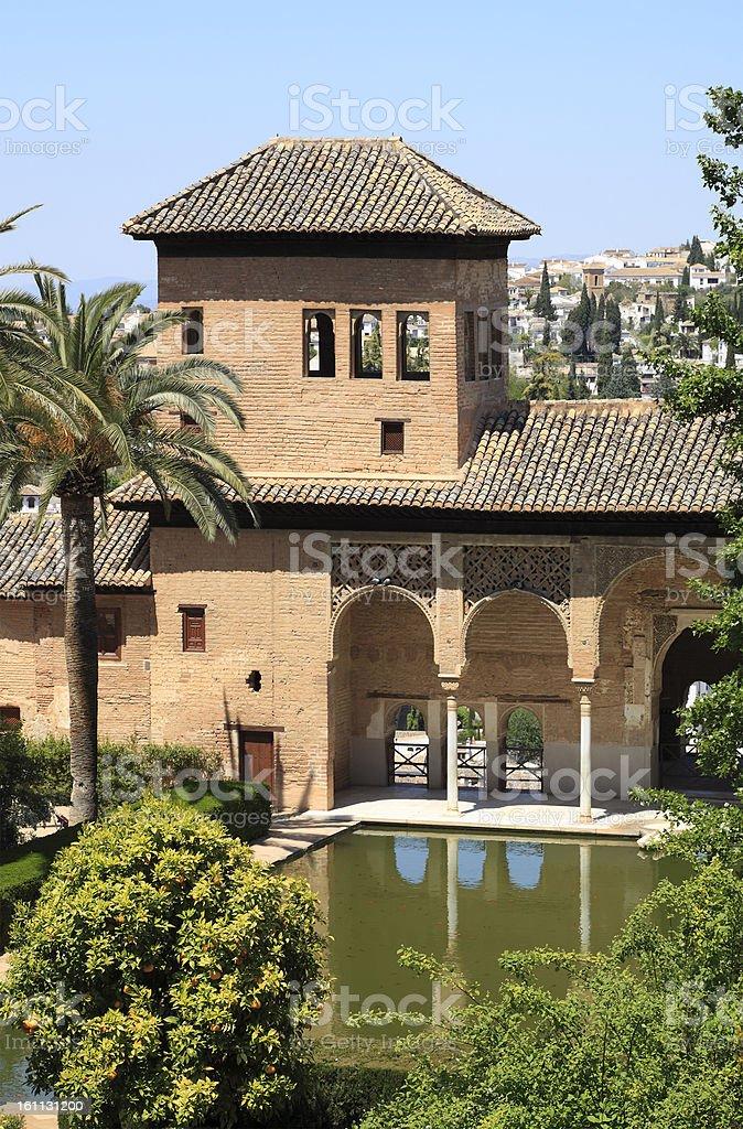 El Partal in the Alhambra Palace, Granada royalty-free stock photo