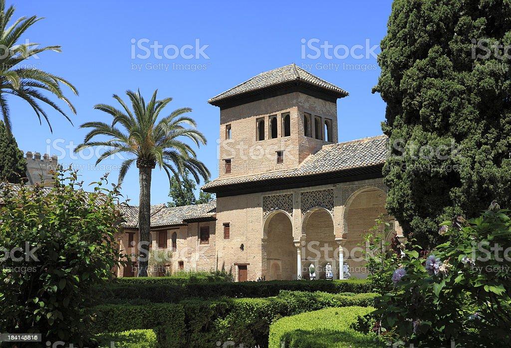 El Partal in the Alhambra Palace, Granada stock photo