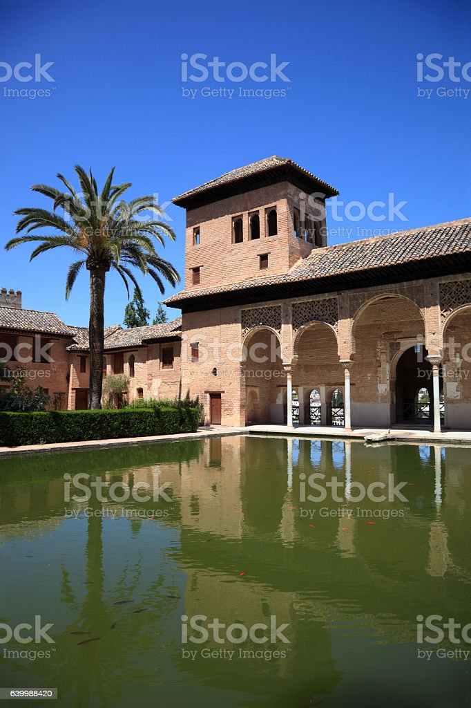 El Partal in the Alhambra Palace, Granada stock photo