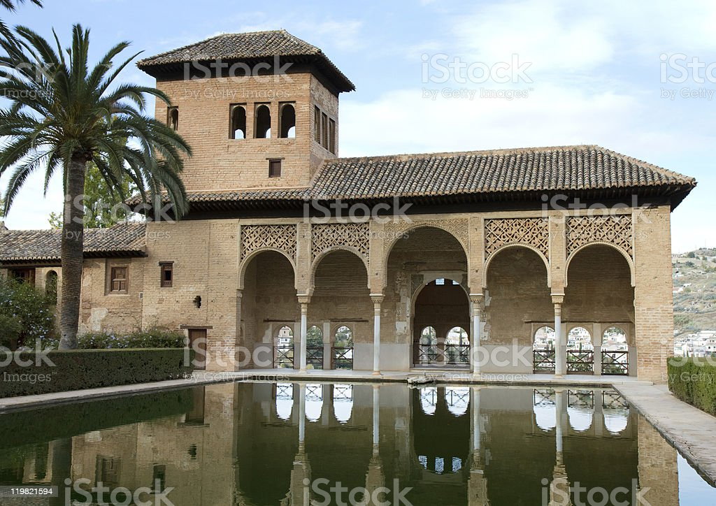 El Partal of the Alhambra stock photo