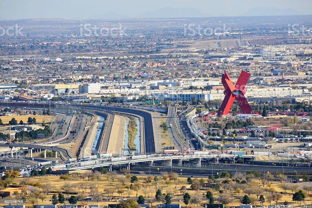 El Paso and Juarez stock photo