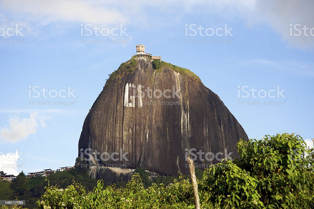 El Pen?ol rock in Colombia royalty-free stock photo