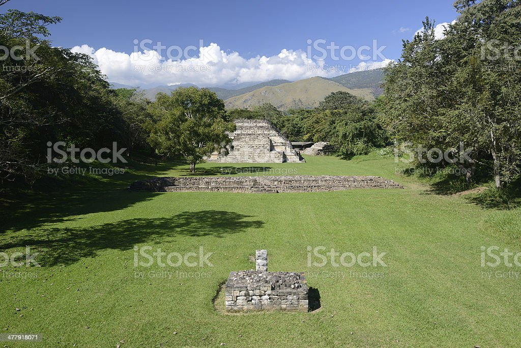 El Puente Archaeological Park in Honduras royalty-free stock photo