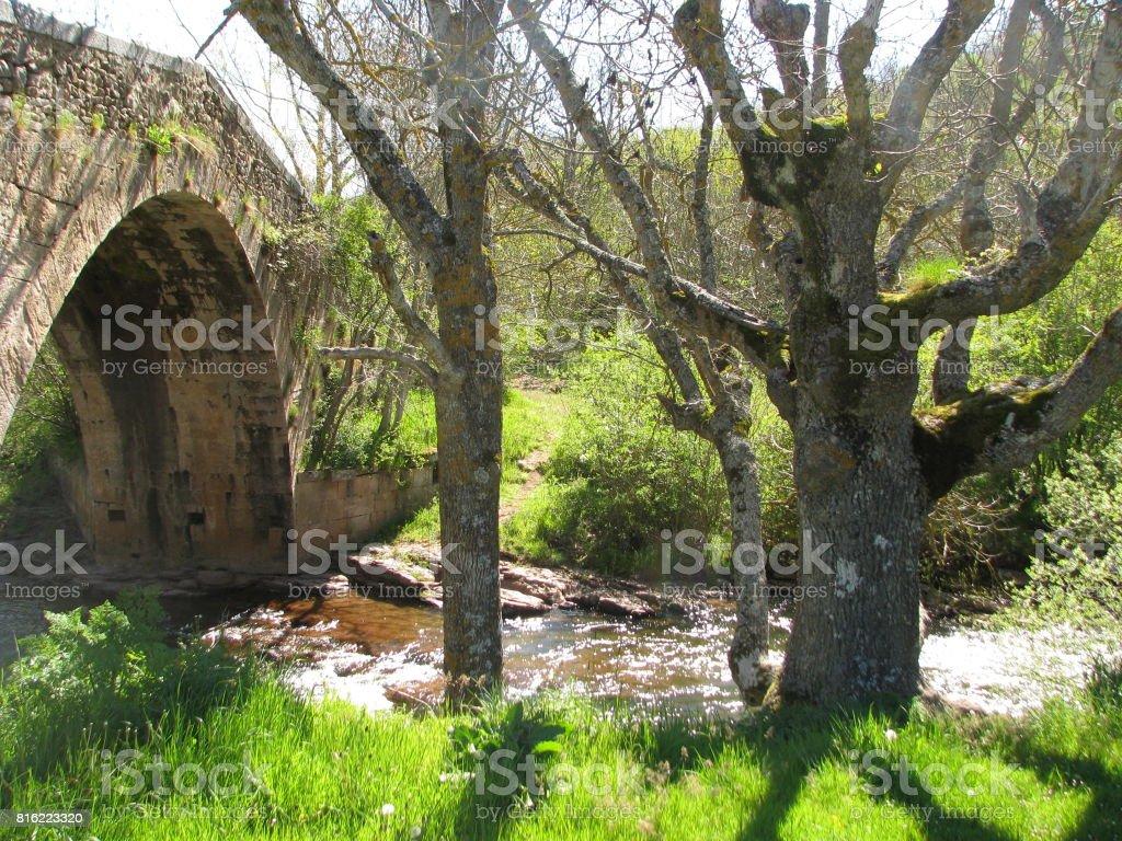 El puente cantabro stock photo