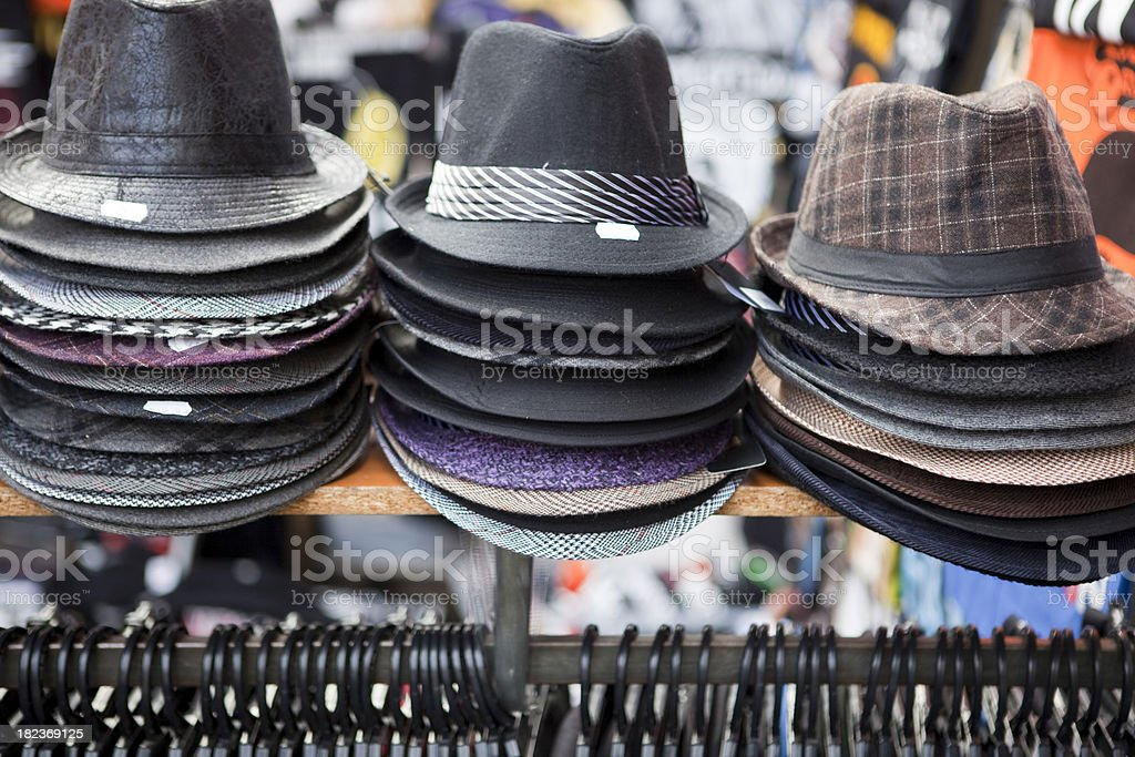 El Rastro de Madrid, Espana Outdoor Flea Market in Spain royalty-free stock photo