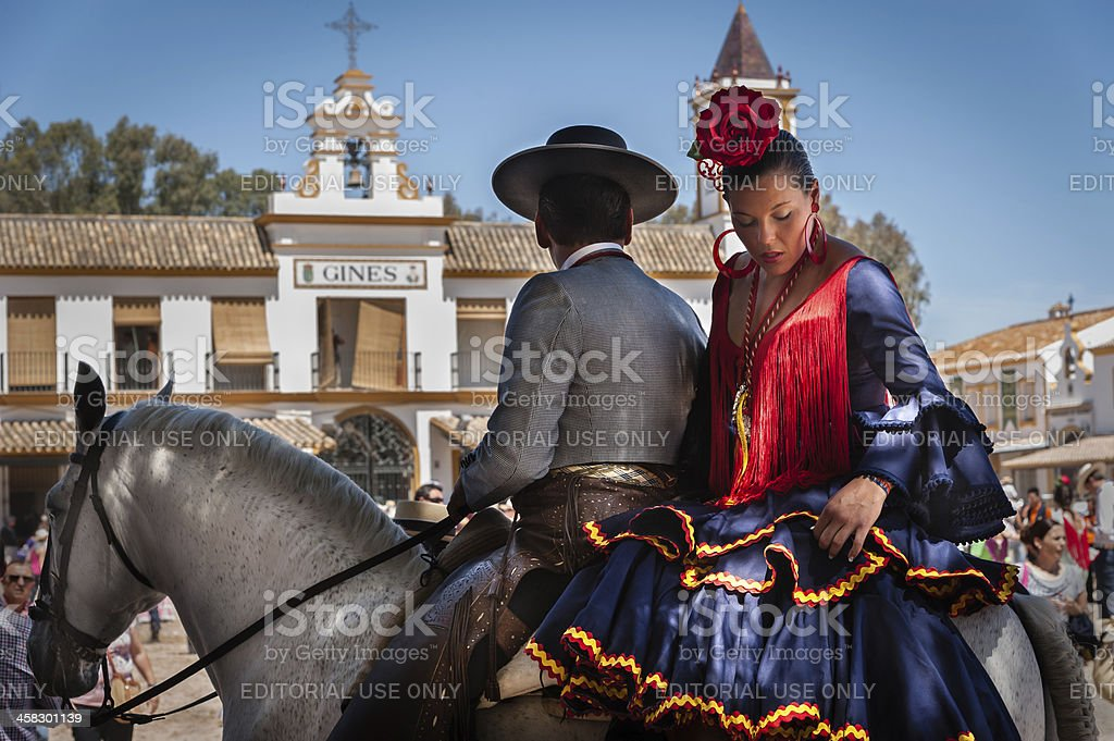 El Rochio romera,  2012 stock photo