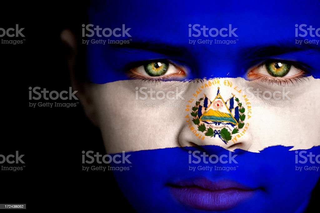 El Salvador boy stock photo