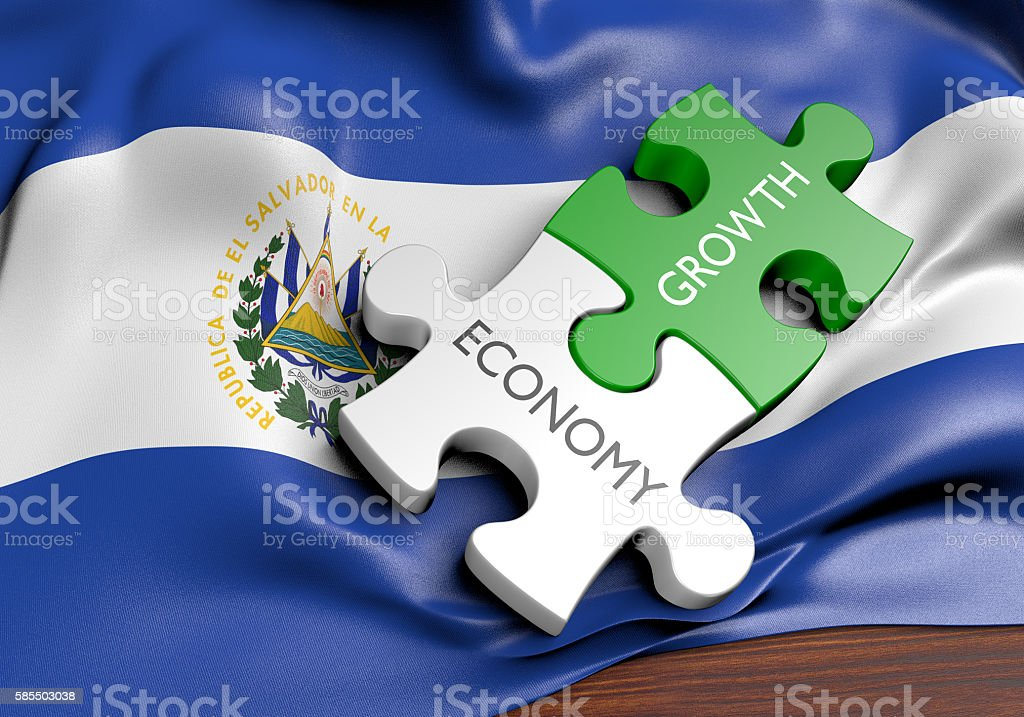 El Salvador economy and financial market growth concept, 3D rendering stock photo