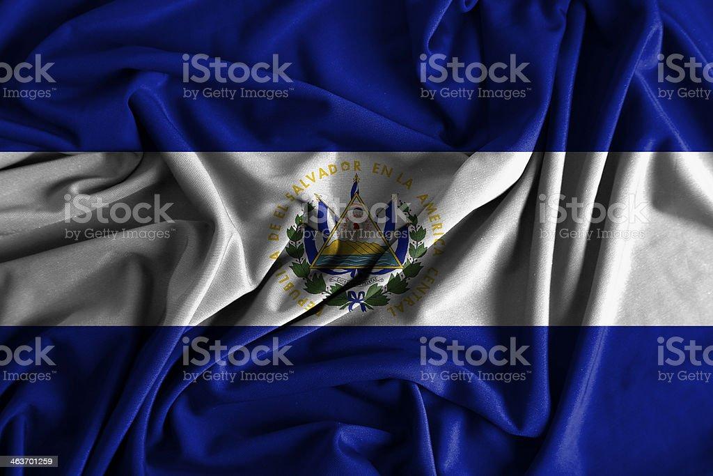 El Salvador Flag royalty-free stock photo