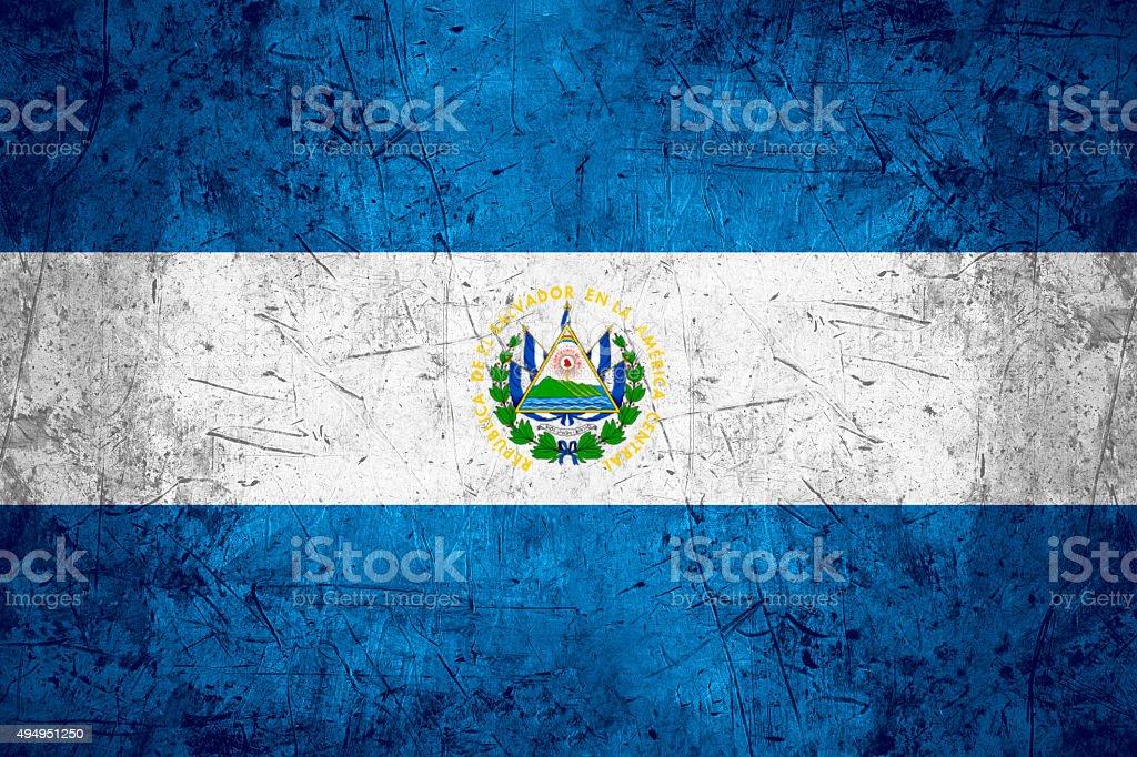 El Salvador flag stock photo