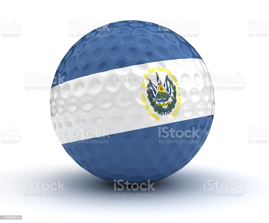 El Salvador Golf Ball stock photo