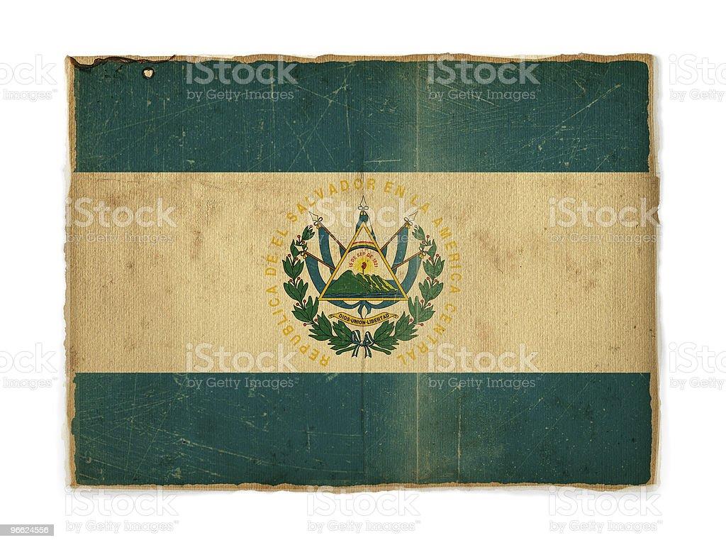 El Salvador grunge flag royalty-free stock photo