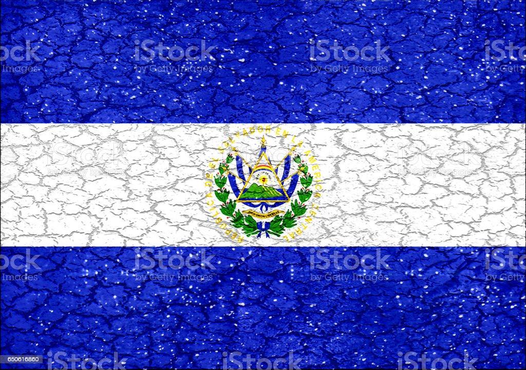 El Salvador Grunge Style National Flag stock photo