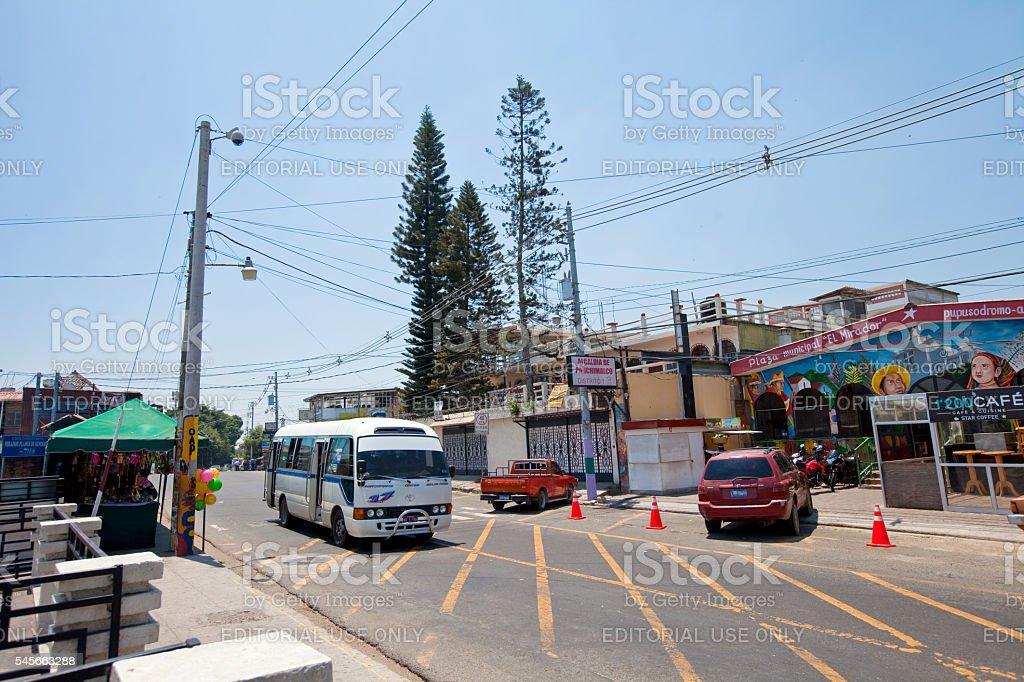 El Salvador Streetview stock photo