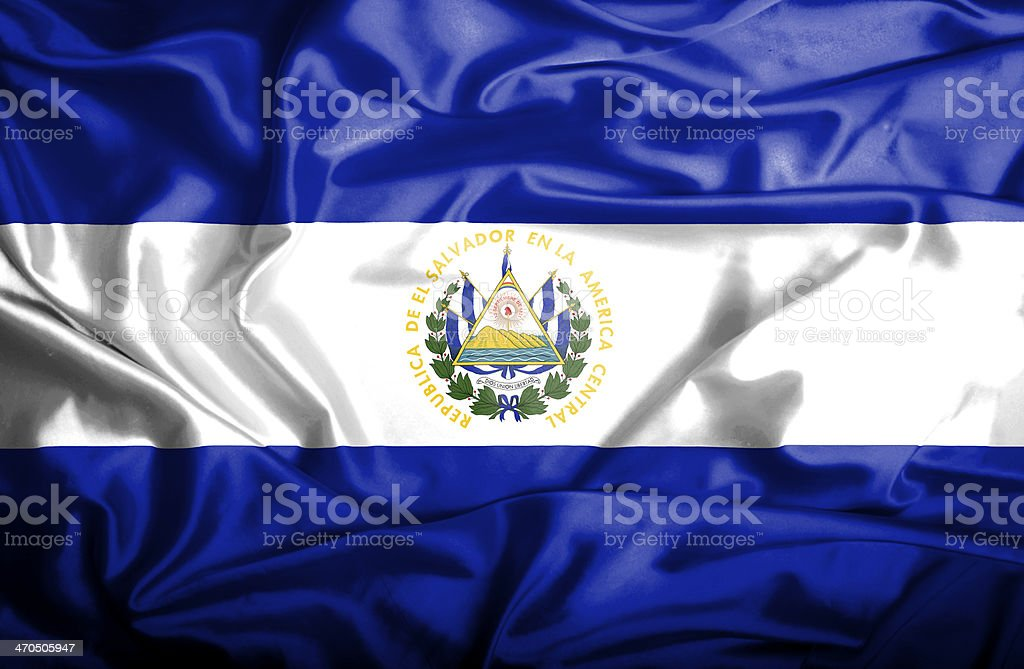 El Salvador waving flag royalty-free stock photo