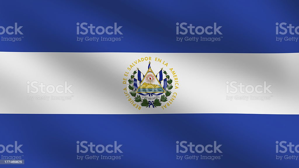 El Salvadoran flag stock photo