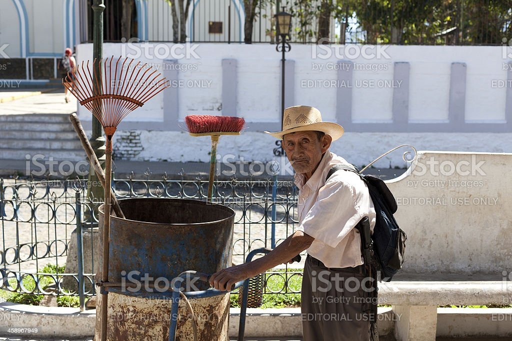 El Salvadorian elderly man portrait royalty-free stock photo