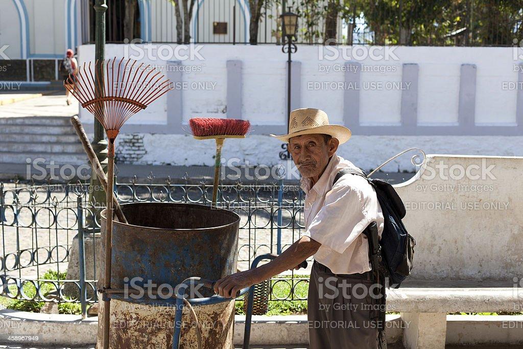 El Salvadorian elderly man portrait stock photo