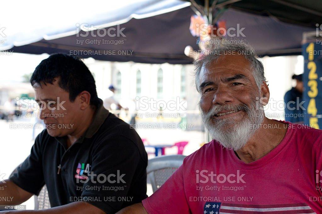 El Salvadorian man stock photo