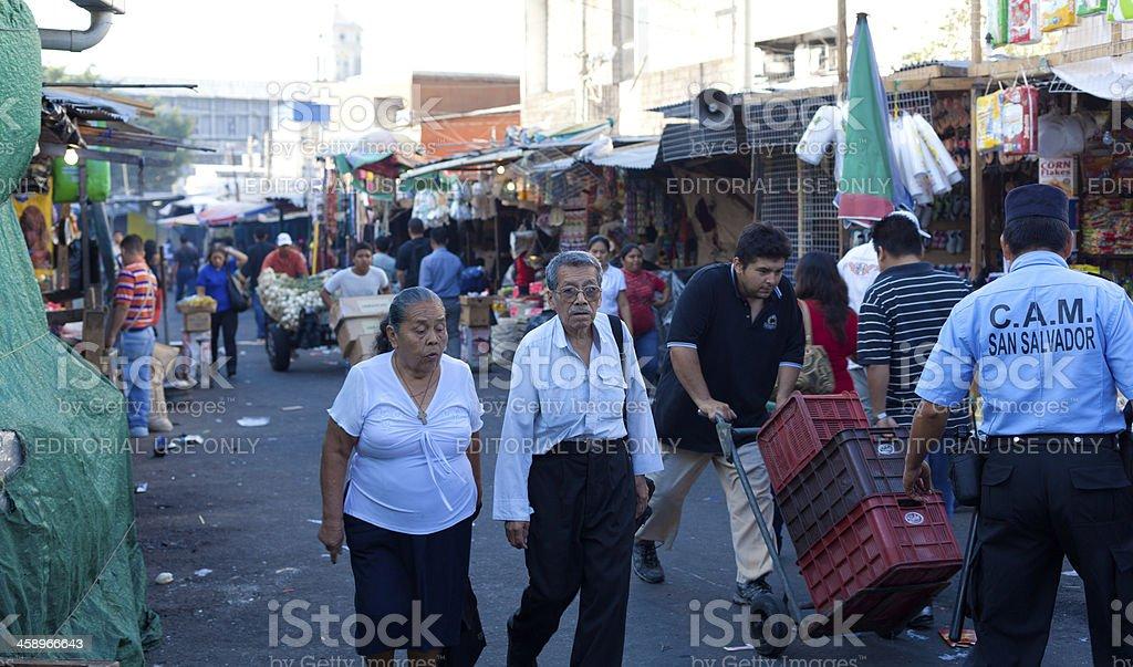 El Salvadorian middle aged couple stock photo
