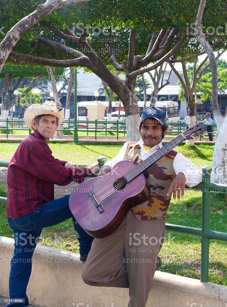 El Salvadorian musician stock photo