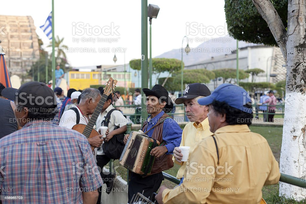 El Salvadorian musicians stock photo