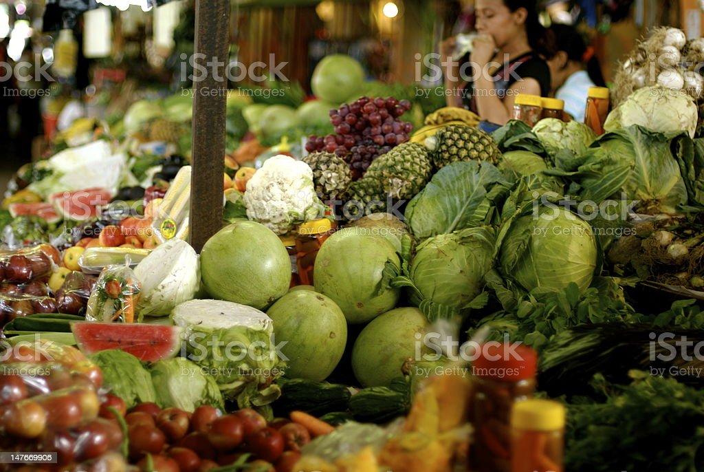 El Salvadorian street market stock photo