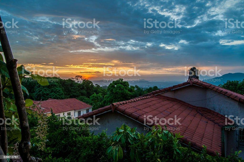 El Salvadorian Sunrise stock photo