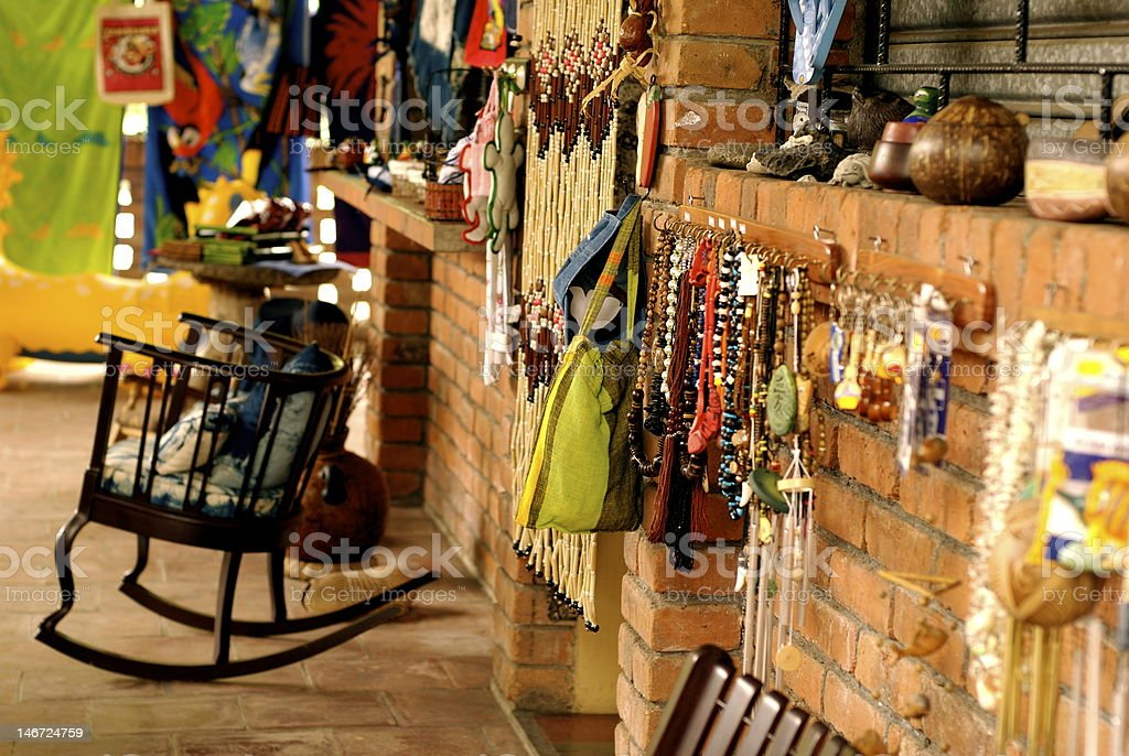 El Salvadorian tourist shop royalty-free stock photo