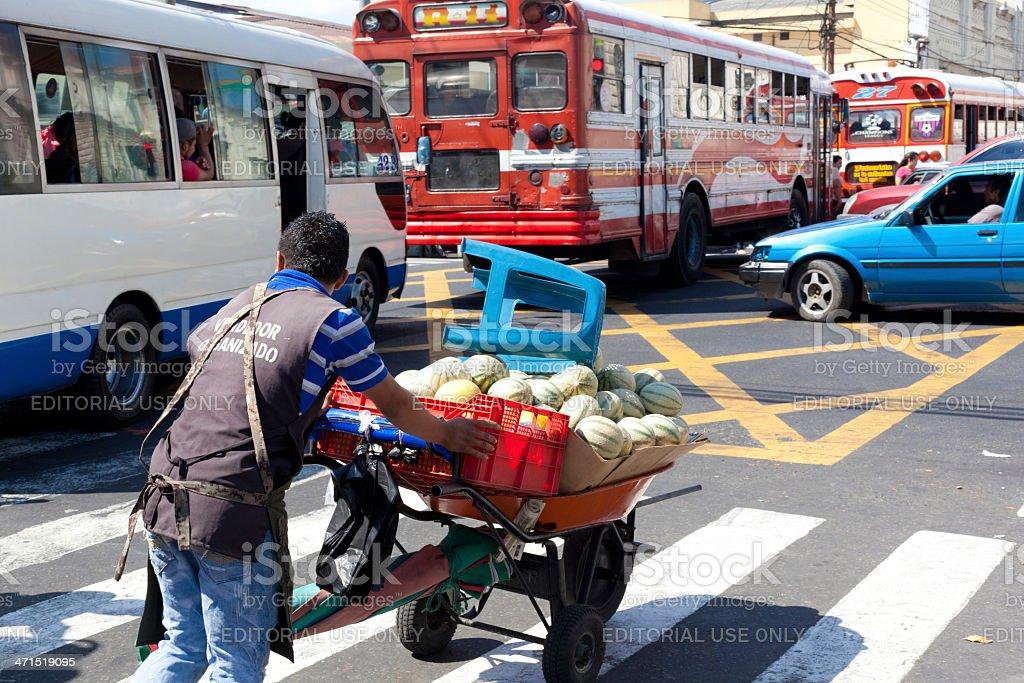 El Salvadorian vendor man stock photo